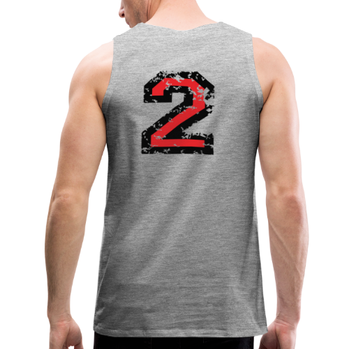 Nummer 2 T-Shirt (Damen Grau) Rücken - Männer Premium Tank Top