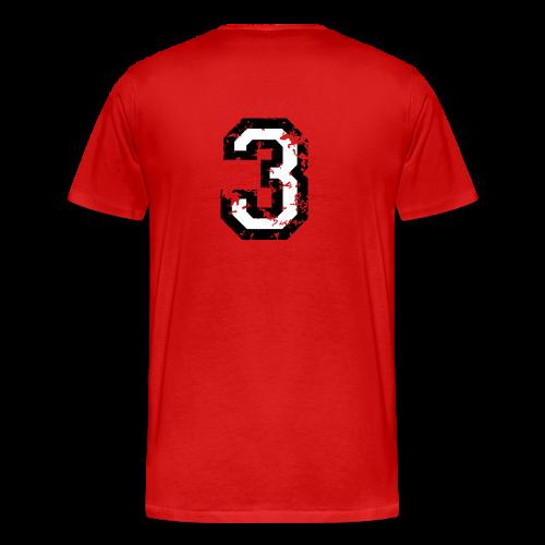 Die Zahl Drei - Nummer 3 (zweifarbig) weiß