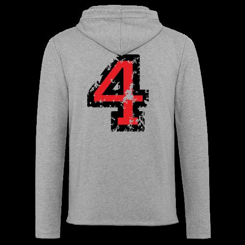Nummer 4 T-Shirt (Herren Grau) Rücken - Leichtes Kapuzensweatshirt Unisex