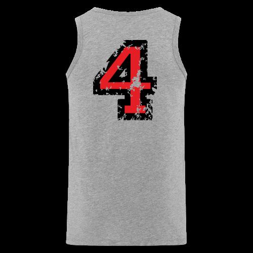 Nummer 4 T-Shirt (Herren Grau) Rücken - Männer Premium Tank Top