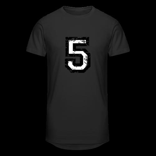 Nummer 5 T-Shirt (Herren Rot) - Männer Urban Longshirt