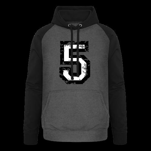 Nummer 5 T-Shirt (Herren Rot) - Unisex Baseball Hoodie