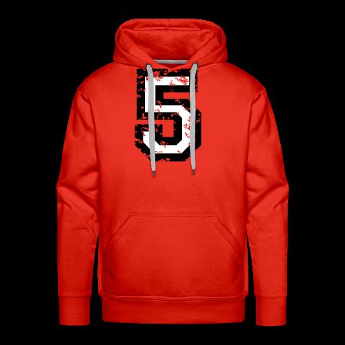 Nummer 5 T-Shirt (Herren Rot) - Männer Premium Hoodie