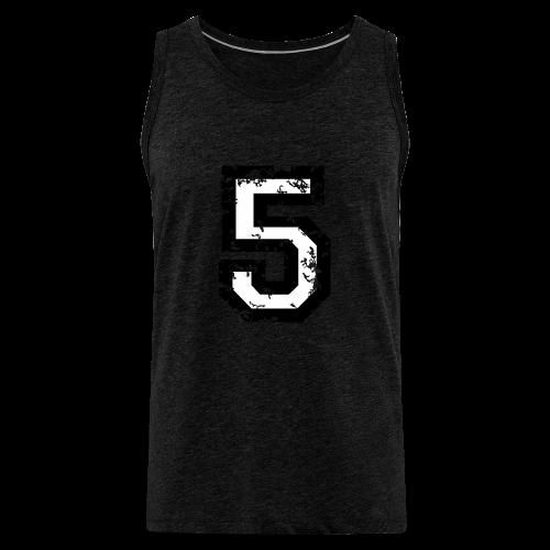Nummer 5 T-Shirt (Herren Rot) - Männer Premium Tank Top