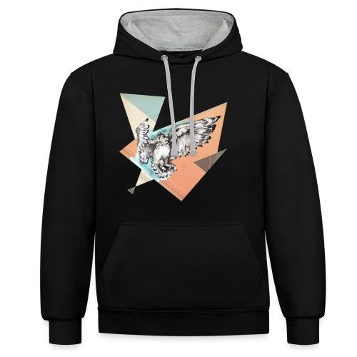 Shirt Owl McFly by carographic, Carolyn Mielke - Kontrast-Hoodie