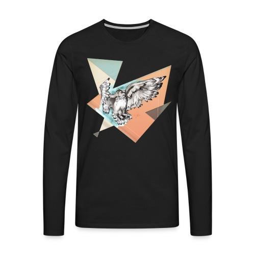 Shirt Owl McFly by carographic, Carolyn Mielke - Männer Premium Langarmshirt