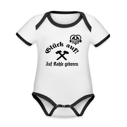 Glück auf - Auf Kohle gebohren - Baby Bio-Kurzarm-Kontrastbody