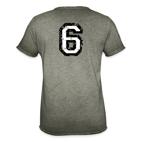 Nummer 6 T-Shirt (Damen Rot) Rücken - Männer Vintage T-Shirt
