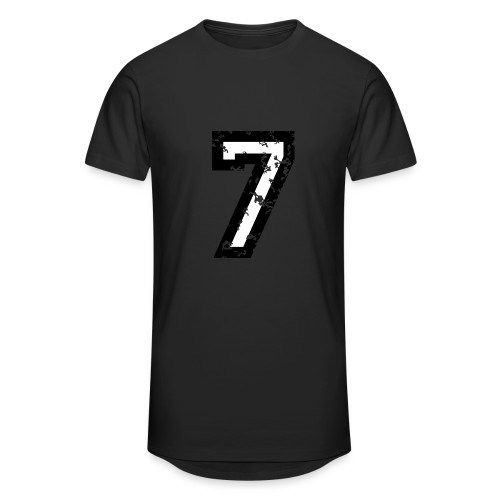 Nummer 7 T-Shirt (Herren Rot) - Männer Urban Longshirt