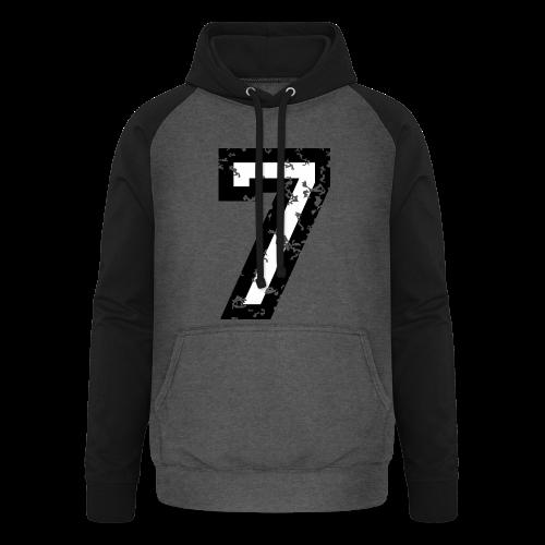 Nummer 7 T-Shirt (Herren Rot) - Unisex Baseball Hoodie