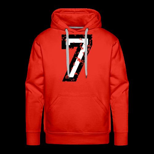Nummer 7 T-Shirt (Herren Rot) - Männer Premium Hoodie