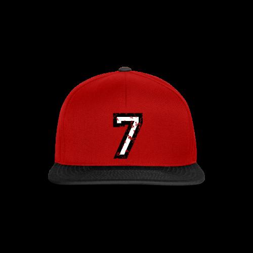 Nummer 7 T-Shirt (Herren Rot) - Snapback Cap