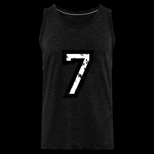 Nummer 7 T-Shirt (Herren Rot) - Männer Premium Tank Top