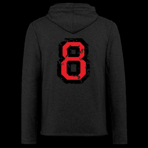 Rückennummer 8 T-Shirt (Herren Grau) - Leichtes Kapuzensweatshirt Unisex