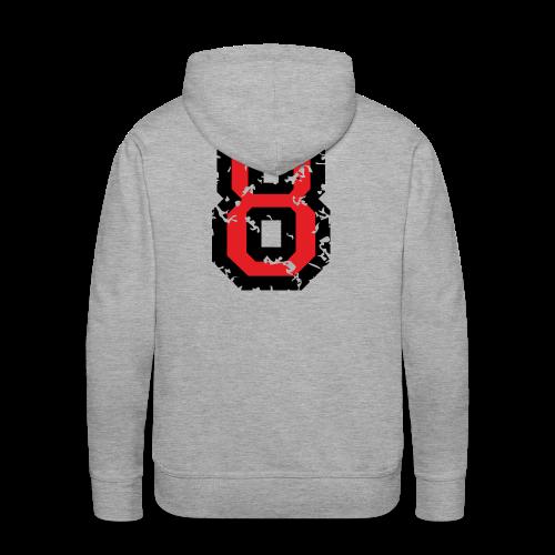 Rückennummer 8 T-Shirt (Herren Grau) - Männer Premium Hoodie