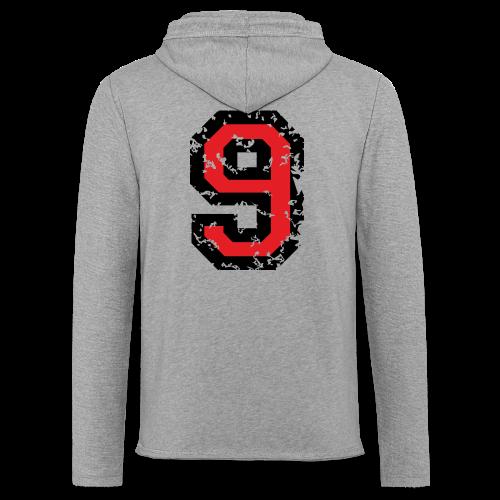 Rückennummer 9 T-Shirt (Herren Grau) - Leichtes Kapuzensweatshirt Unisex