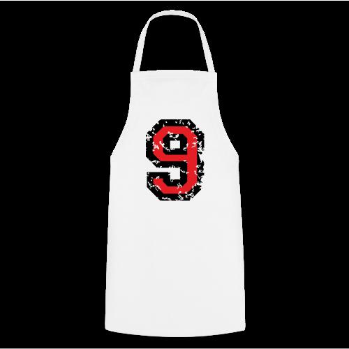 Rückennummer 9 T-Shirt (Herren Grau) - Kochschürze