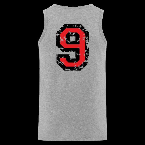Rückennummer 9 T-Shirt (Herren Grau) - Männer Premium Tank Top