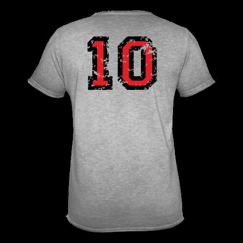 Rückennummer 10 T-Shirt (Herren Grau) - Männer Vintage T-Shirt
