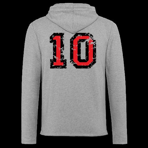 Rückennummer 10 T-Shirt (Herren Grau) - Leichtes Kapuzensweatshirt Unisex