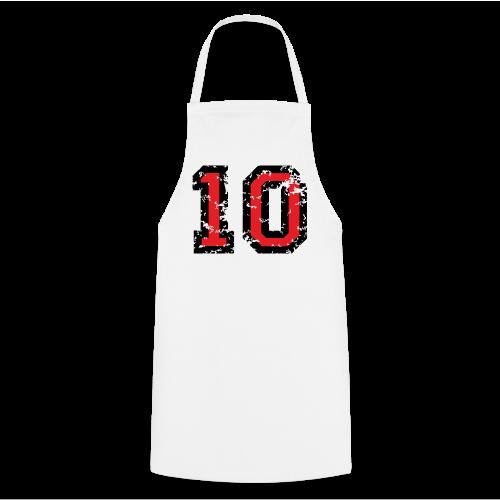 Rückennummer 10 T-Shirt (Herren Grau) - Kochschürze