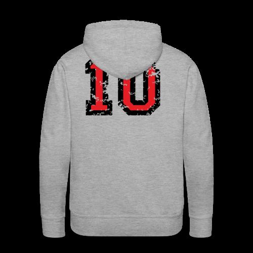 Rückennummer 10 T-Shirt (Herren Grau) - Männer Premium Hoodie