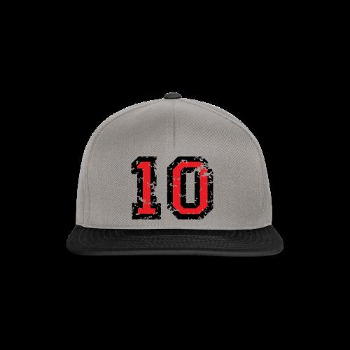 Rückennummer 10 T-Shirt (Herren Grau) - Snapback Cap