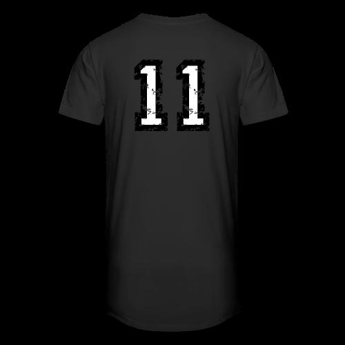 Rückennummer 11 T-Shirt (Herren Rot) - Männer Urban Longshirt