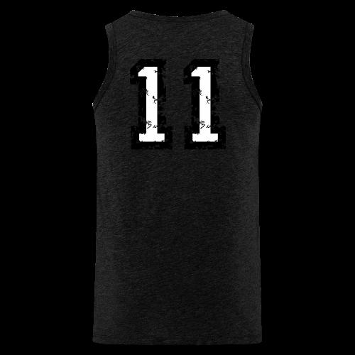 Rückennummer 11 T-Shirt (Herren Rot) - Männer Premium Tank Top