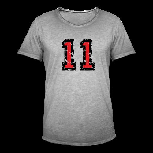 Nummer 11 T-Shirt (Damen Grau) - Männer Vintage T-Shirt