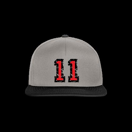 Nummer 11 T-Shirt (Damen Grau) - Snapback Cap