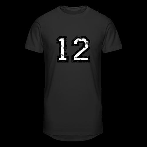Nummer 12 T-Shirt (Herren Rot) - Männer Urban Longshirt