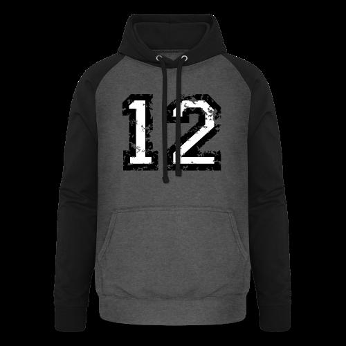Nummer 12 T-Shirt (Herren Rot) - Unisex Baseball Hoodie