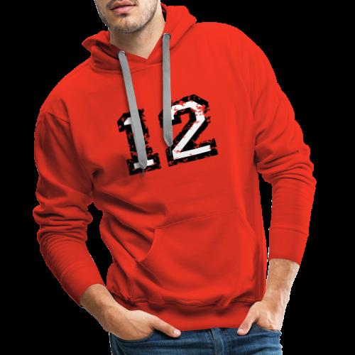 Nummer 12 T-Shirt (Herren Rot) - Männer Premium Hoodie