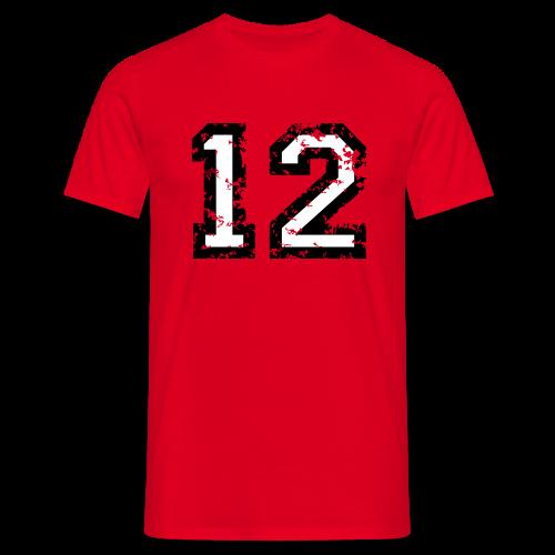 Nummer 12 T-Shirt (Herren Rot) - Männer T-Shirt