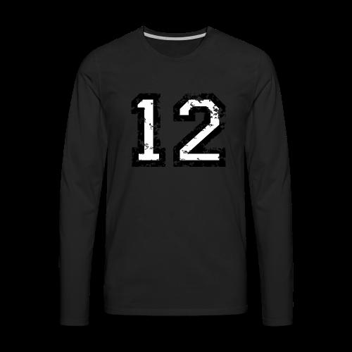Nummer 12 T-Shirt (Herren Rot) - Männer Premium Langarmshirt