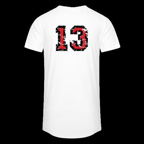 Rückennummer 13 T-Shirt (Herren Grau) - Männer Urban Longshirt