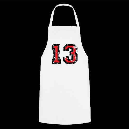 Rückennummer 13 T-Shirt (Herren Grau) - Kochschürze