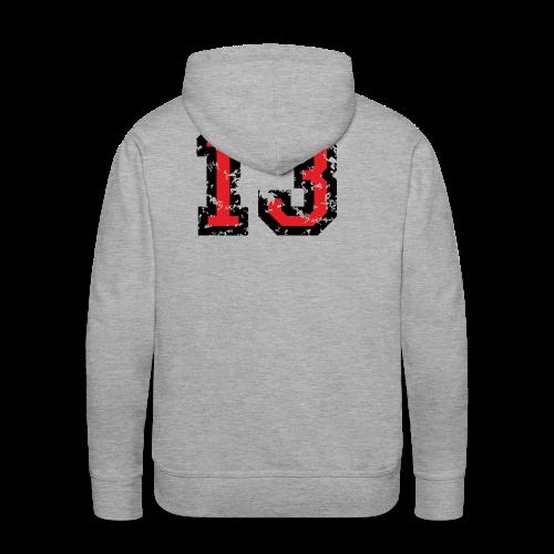 Rückennummer 13 T-Shirt (Herren Grau) - Männer Premium Hoodie