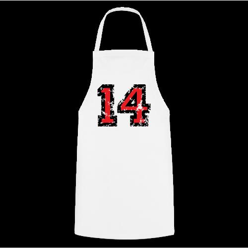 Rückennummer 14 T-Shirt (Herren Grau) - Kochschürze