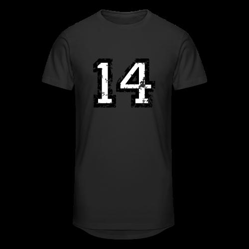 Nummer 14 T-Shirt (Herren Rot) - Männer Urban Longshirt