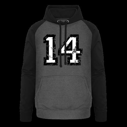 Nummer 14 T-Shirt (Herren Rot) - Unisex Baseball Hoodie