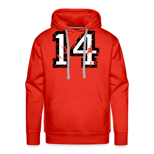 Nummer 14 T-Shirt (Herren Rot) - Männer Premium Hoodie