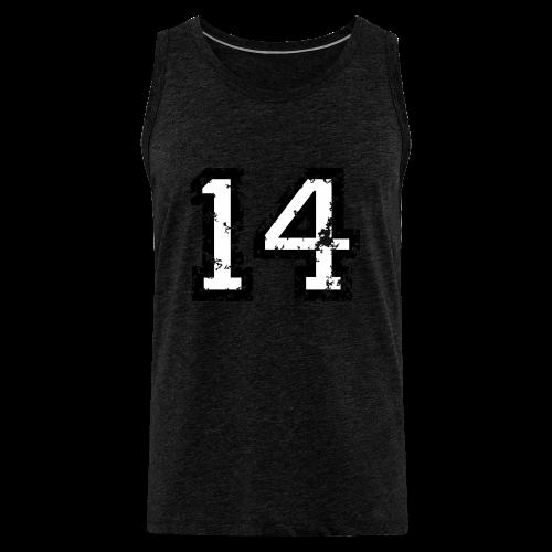 Nummer 14 T-Shirt (Herren Rot) - Männer Premium Tank Top