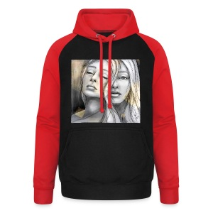 Reflection II by carographic @ Shirt - Unisex Baseball Hoodie