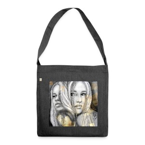 Reflection I by carographic @ Shirt - Schultertasche aus Recycling-Material