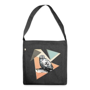 Owl McSit by carographic, Carolyn Mielke - Schultertasche aus Recycling-Material