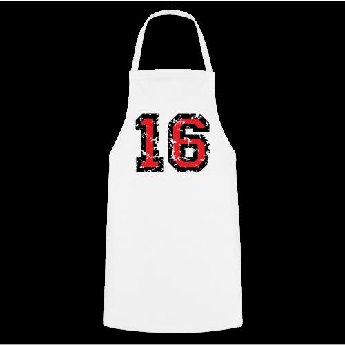 Rückennummer 16 T-Shirt (Herren Grau) - Kochschürze