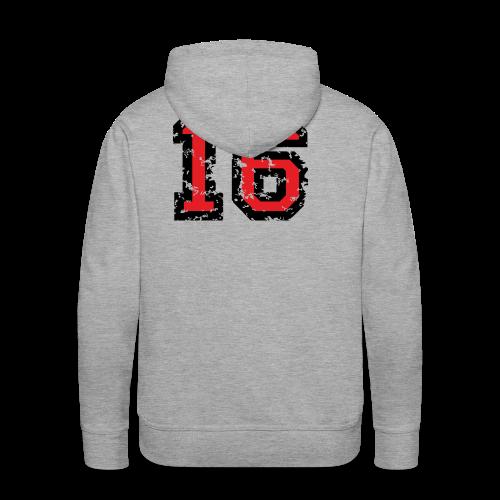 Rückennummer 16 T-Shirt (Herren Grau) - Männer Premium Hoodie