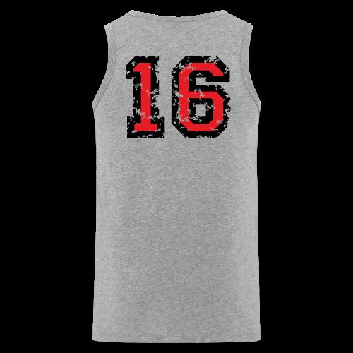 Rückennummer 16 T-Shirt (Herren Grau) - Männer Premium Tank Top